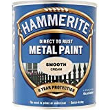 Hammerite Metal Paint Smooth 750ml Cream by Hammerite