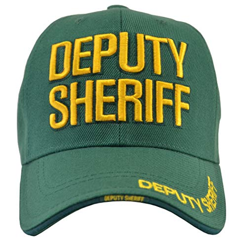 (Incrediblegifts Deputy Sheriff Green Hat Gold Embroidered)