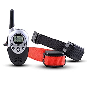 Commart 1000 Yard Waterproof 2 Dog Shock Training Collar with Remote Rechargeable 4level Shipping From US