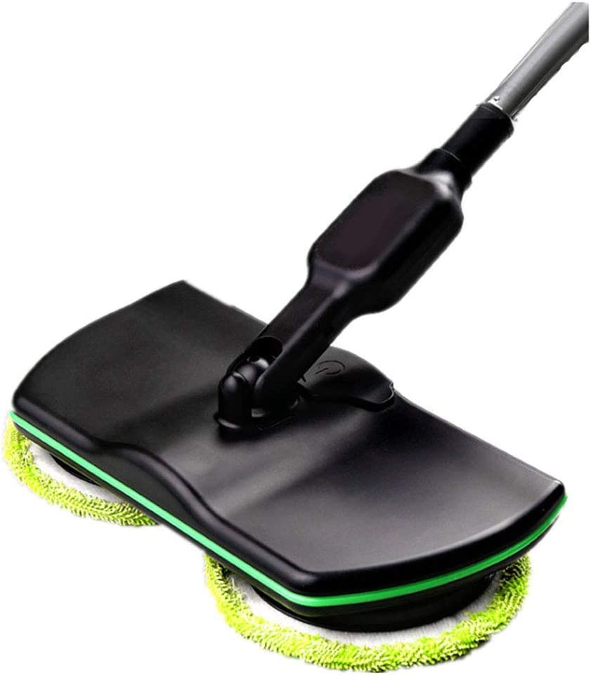 Jsmhh Power Sweeper Multi-Function Floor Sweeping Machine Hand Push Type Double Rotating Lazy One Mop for Home Floor Kitchen Car