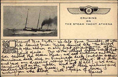 cruising-on-the-steam-yacht-athena-steamers-greece-original-vintage-postcard