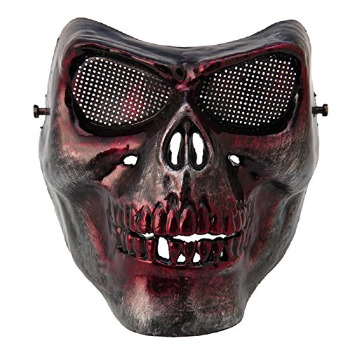 Halloween Protective Skull Skeleton Terror Mask Full Face for Tactical Military (Making Scary Halloween Masks)