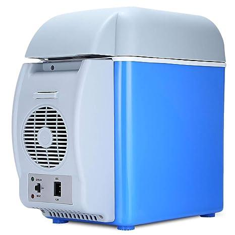 Mini Nevera eléctrica Caja fría 12V 7.5L Coche Refrigerador de ...
