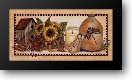 Sunflowers Aglow 24x14 Framed Art Print by Spivey, Linda