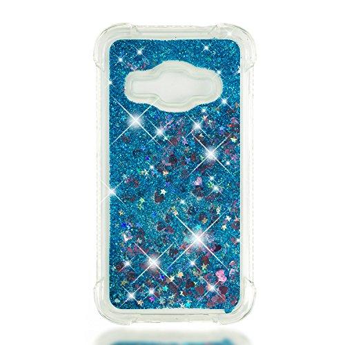 Galaxy Gel Souple 2016 Samsung Azur Choc Silicone J120 Samsung Galaxy de LOYBO37378 pour J1 Anti Housse 2016 Rayures Bleu J1 Protection Coque Liquide Anti Paillette Coque Lomogo ZzxgEE