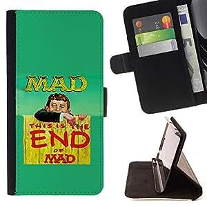 - QUOTE SLOGAN MAD FUNNY LIFE WORLD CRAZY - - Prima caja de la PU billetera de cuero con ranuras para tarjetas, efectivo desmontable correa para l Funny HouseFOR Sony Xperia Z1 Compact D5503