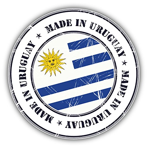 Made In Uruguay Grunge Flag Stamp Art Decor Bumper Sticker 5