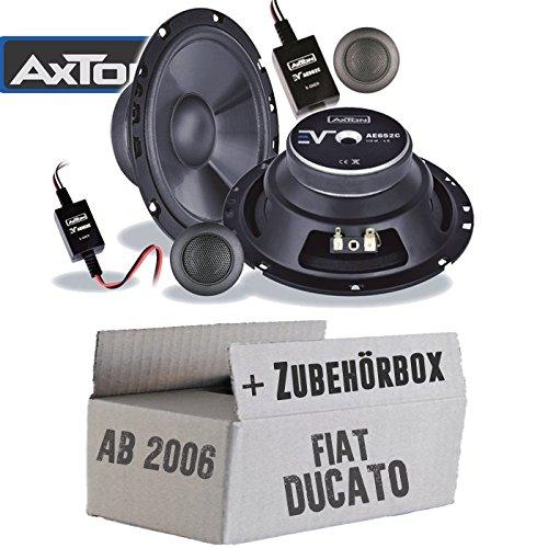 16cm 2-Wege Auto Einbauzubeh/ör Lautsprecher Boxen Axton AE652C Einbauset f/ür FIAT Ducato 3 250 Front JUST SOUND best choice for caraudio