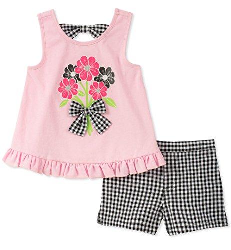 Kids Headquarters Baby Girls 2 Pieces Shorts Set, Pink, 12M