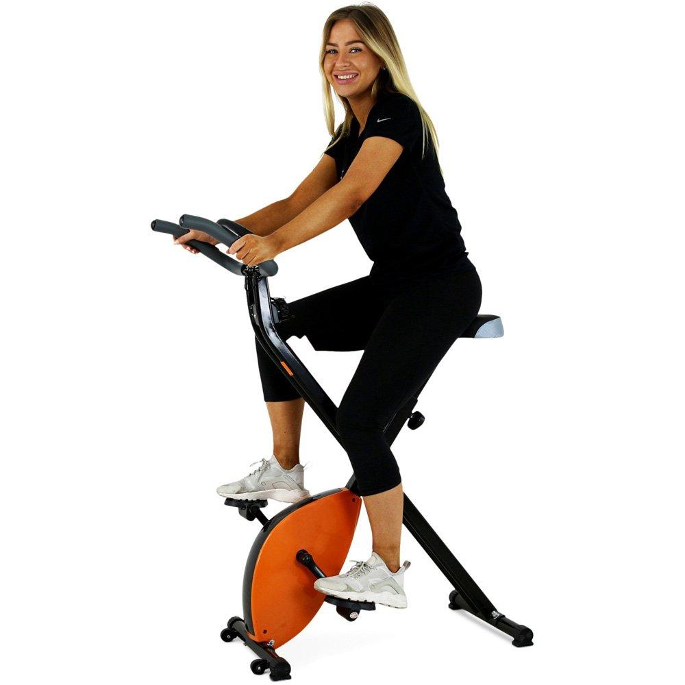 BAKAJI bicicleta estática plegable magnético Con Pantalla Digital ...