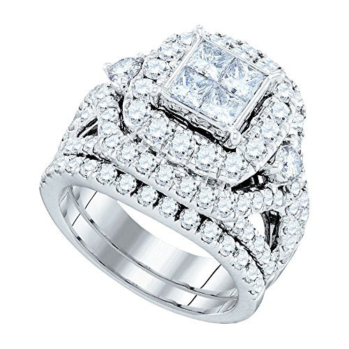 Diamond Set Cluster Ring - 4