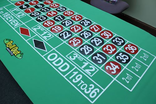 Premium Roulette Rubber Table Layout with Carrying Bag - Includes Bonus Roulette Marker! by Poker Supplies