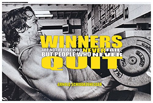 MR.CI -Arnold Schwarzenegger Winners are Not People Who Never Fail Poster Wall Print|Inspirational Motivational Gym Classroom Home Office Dorm|18 X 12 - Gym Winners