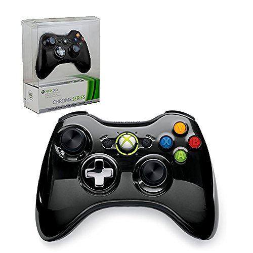 Xbox 360 Limited Edition Chrome Series Wireless Controller - Black (Xbox 360 Modded Control)