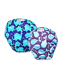Baby swim diapers - Premium, stylish, Adjustable reusable swimming suit diapers shirt for toddler, boys and girls