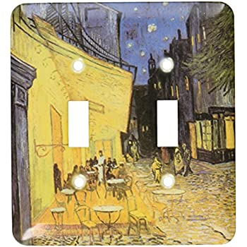 3dRose LSP/_110451/_1 Three Bridges Vintage Van Gogh Single Toggle Switch Multicolor