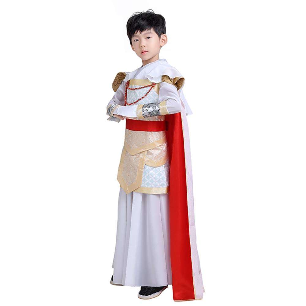 FXNN Hanfu - Chinese Style Costumes Generals Uniforms Cloak Costumes Clothing (Color : Red, Size : 140cm) by FXNN SHOP