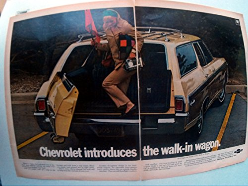 1969 Chevrolet Kingswood Estate Wagon Walk-in Original 2 Page 13.5 * 10.5 Magazine Ad Chevrolet Kingswood Wagon