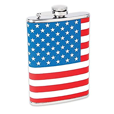 Maxam 8oz Ss Hip Flask Usa Flag Wrap (1)