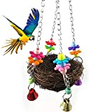 Da.Wa Bird's Nest Swing Toy Cage for Parrot Perch Nest Birds Macaw African Greys