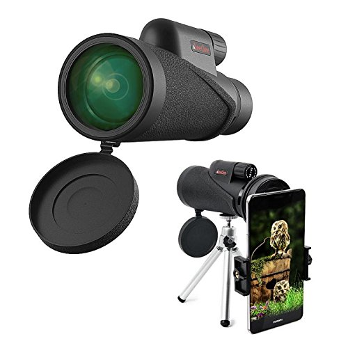 High Power Monocular Telescope 10×42 Nitrogen Filled Waterproof Monocular Scope, HD Wide View BAK4 Prism Scope for Bird Watching/Hunting/ Hiking/Outdoor/Surveillance