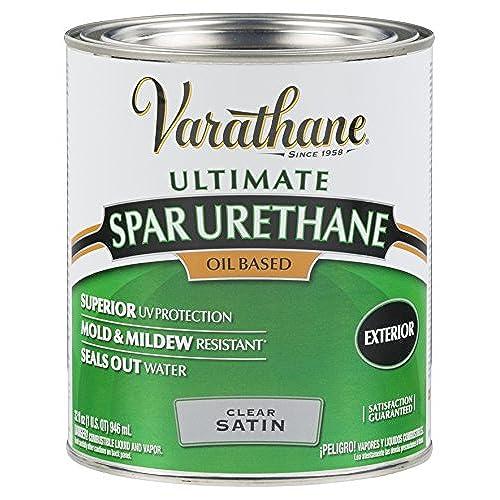 Elegant Rust Oleum Varathane 9341H 1 Quart Classic Clear Oil Based Outdoor Spar  Urethane, Satin Finish