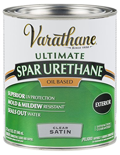 Rust-Oleum 9341H Classic Clear Oil Based Outdoor Spar Urethane, 1-Quart, Satin Finish