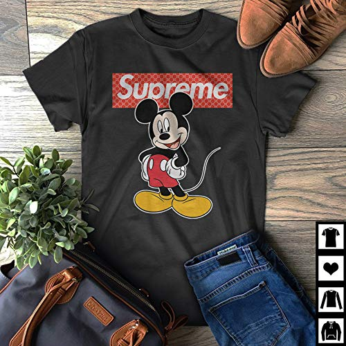 1ca60b6dd089 Image Unavailable. Image not available for. Color: Supreme vs Gucci Mickey  Mouse Fan Gift T-Shirt