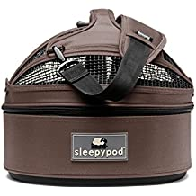 Sleepypod Mini Pet Bed Dog or Cat Traveler Carrier DARK CHOCOLATE