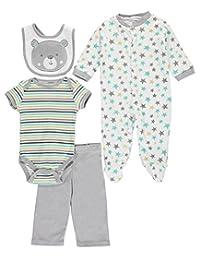 "Cutie Pie Baby Boys' ""Bear Prints"" 5-Piece Layette Gift Set"