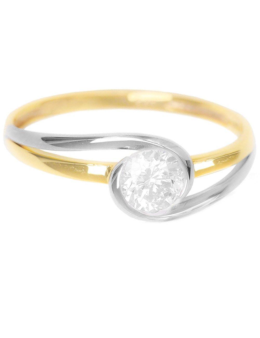 5a30e9b83818 Anillos Amarillo Compromiso Bicolor Blanco Oro 375 De Mygold qzpGSMVU
