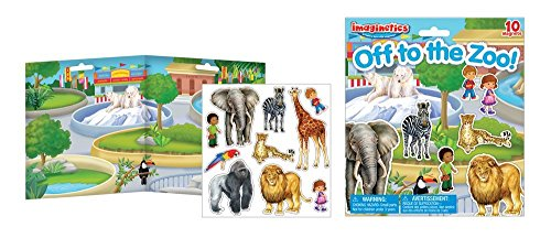 Imaginetics Off to the Zoo Playset – Includes 10 Magnets from Imaginetics
