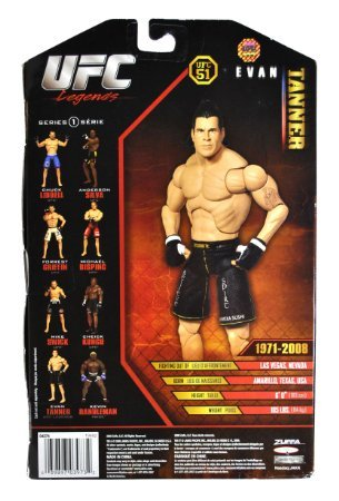 Jakks Pacific Year 2009 Series 1 Ultimate Fighting Championship UFC 51 Legends Collection 7-1/2 Inch Tall Action Figure - EVAN TANNER
