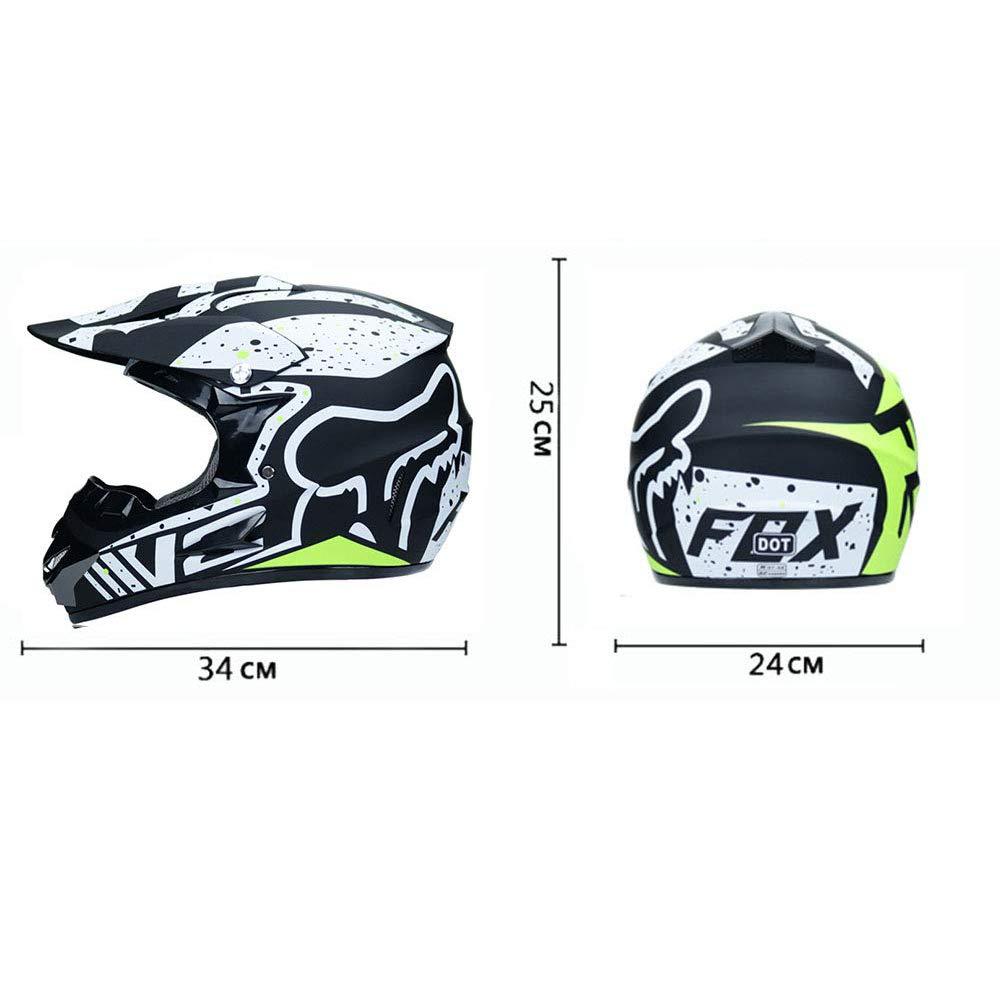per Adulti e Bambini Giovani Motociclette da Motocross Caschi ATV Certificazione ECE Maschere per Guanti oculari gratuiti,A,S XTXWEN Caschi per Motociclisti