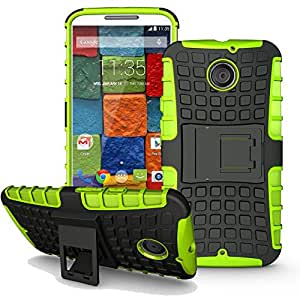 Moto X 2nd Gen Case, Heavy Duty Dual Layer Protection / Shockproof / Drop Resistance Hybrid Rugged Cover Case for Motorola Moto X 2nd Gen