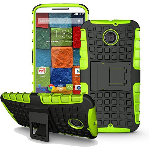 [SCIMIN] Moto X 2nd Gen Case, Heavy Duty Dual Layer Protection/Shockproof/Drop Resistance Hybrid Rugged Cover Case for Motorola Moto X 2nd Gen (Green) (Moto X 1st Gen Case Flip)