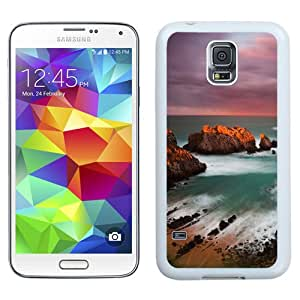 Fashionable And Unique Designed Cover Case For Samsung Galaxy S5 I9600 G900a G900v G900p G900t G900w With Cantabria Beach_White Phone Case