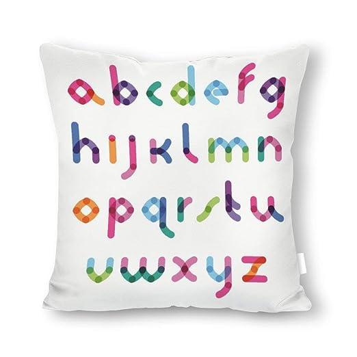 DKISEE - Funda de cojín Decorativa, diseño de Letras, Lona ...