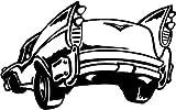 Caddy cl?sico vinilo etiqueta carro ventana signos RV Trailer pared pegatinas - 30 cm de altura de la aleta * W Auto