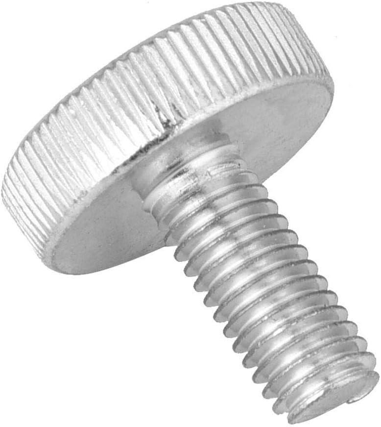 Tornillo de cabeza moleteada tornillo de cabeza de moleteado plano de acero al carbono 10pcs M8 Tornillos de cabeza moleteada plana Tornillos Accesorio M8*10(10pcs)