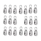 SODIAL Crane Pulley Block M15 Lifting Crane Swivel Hook single Pulley Block Hanging Wire Towing Wheel 10Pcs