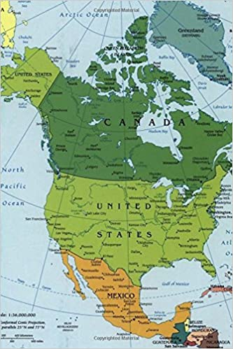amazon a map of modern day north america journal map lovers