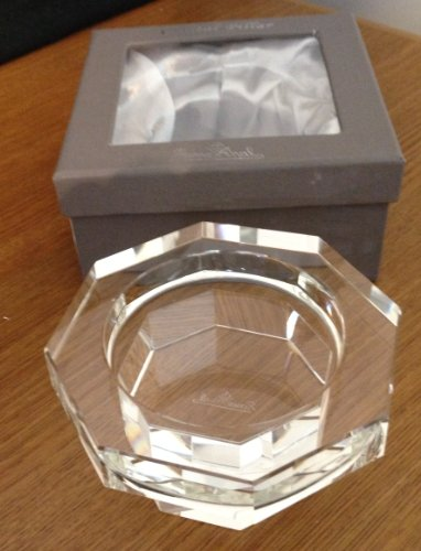 Crystal Octagon Shape - Rosenthal Designer Crystal Pillar Candle Holder - New in Box - Octagon Shape