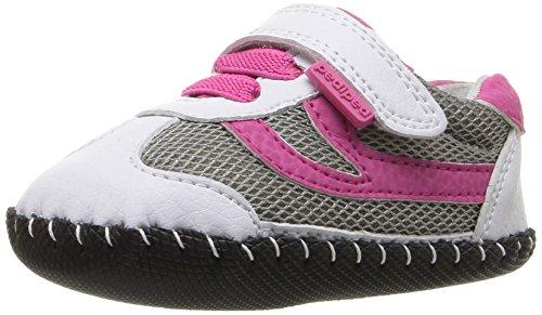 Pediped Girls Cliff Sneaker  White Fuchsia   X Small  0 6 Months
