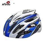 CapsA Bike Helmet for Men Women with Safety Light Adjustable Light Bicycle Road Mountain Bicycle Helmet (D, 57-61)