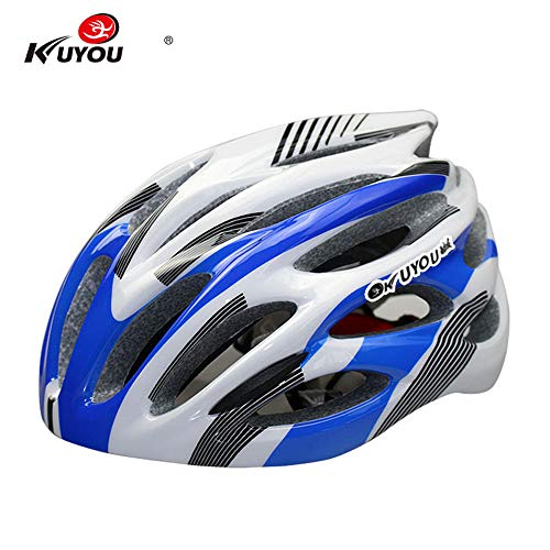 CapsA Bike Helmet for Men Women with Safety Light Adjustable Light Bicycle Road Mountain Bicycle Helmet (D, 57-61)