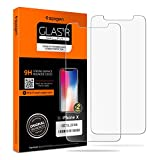 #10: Spigen iPhone X Screen Protector Tempered Glass / 2 Pack / Case Friendly for Apple iPhone X / 10