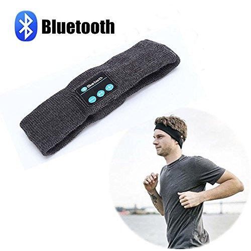 Sports Bluetooth Music Headband Sweatband Headwear Strap Built in Wireless Speaker Headset for Gym Exercise Running Sleeping