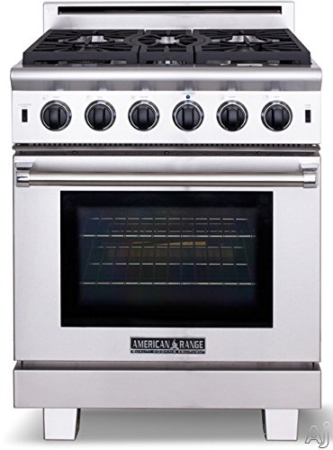 - American Range Cuisine Series 30 Inch Pro-Style Gas Range with 5 Sealed Burners