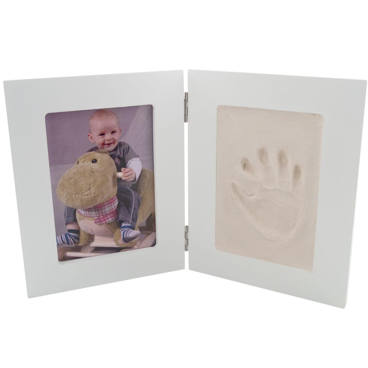 Bilderrahmen mit Abdruckset/Baby Abdrücke (2-Fach stehend): Amazon ...